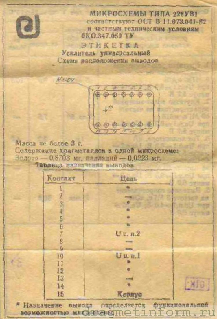 Формуляр 228УВ1