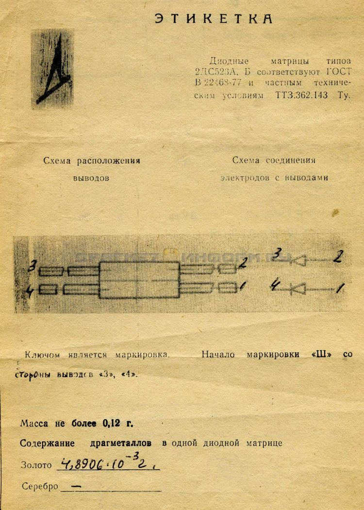 Формуляр 2ДС523А