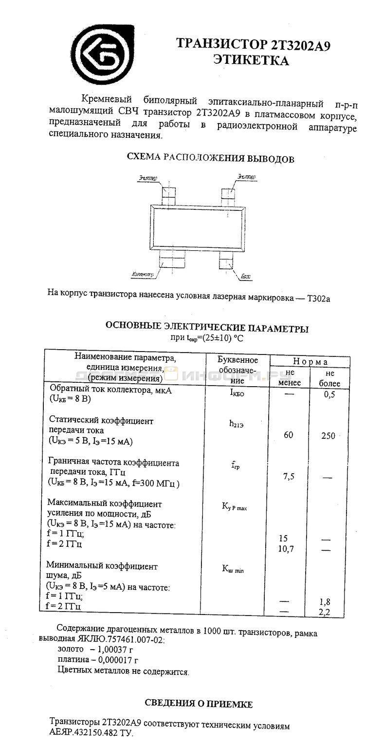 Формуляр 2Т3202А9