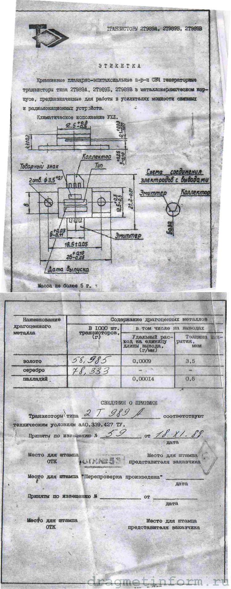 Формуляр 2Т989Б