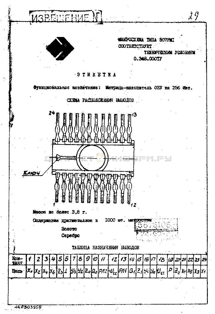 Формуляр 507РМ1