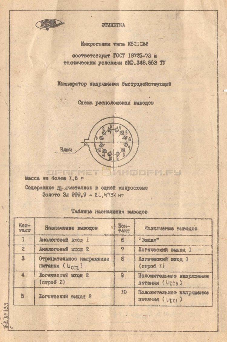 Формуляр 521СА4 ОСМ