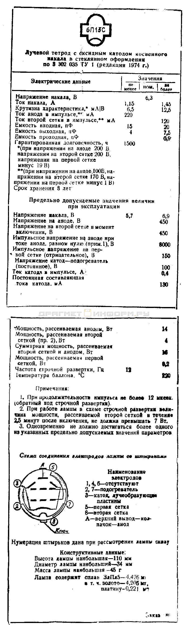 Формуляр 6П13С