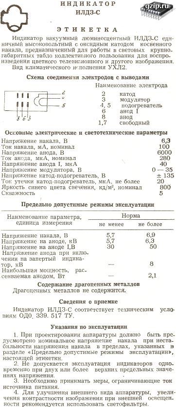 Формуляр ИЛД3-С