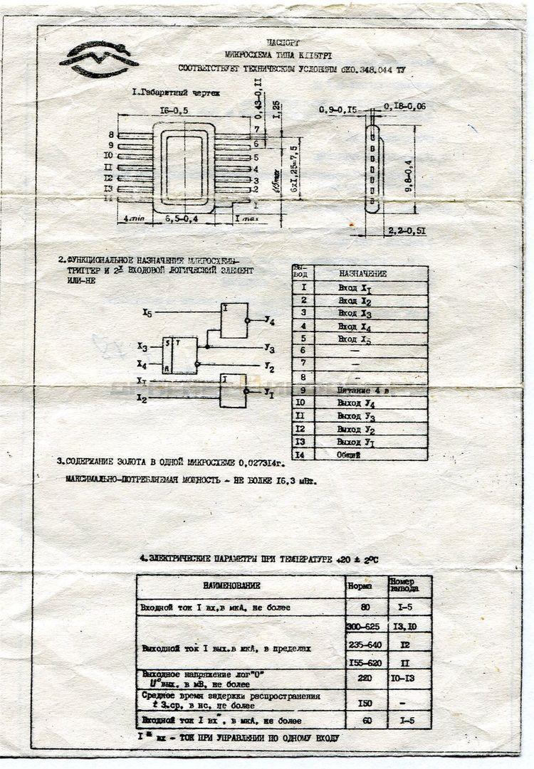 Формуляр К115ТР1