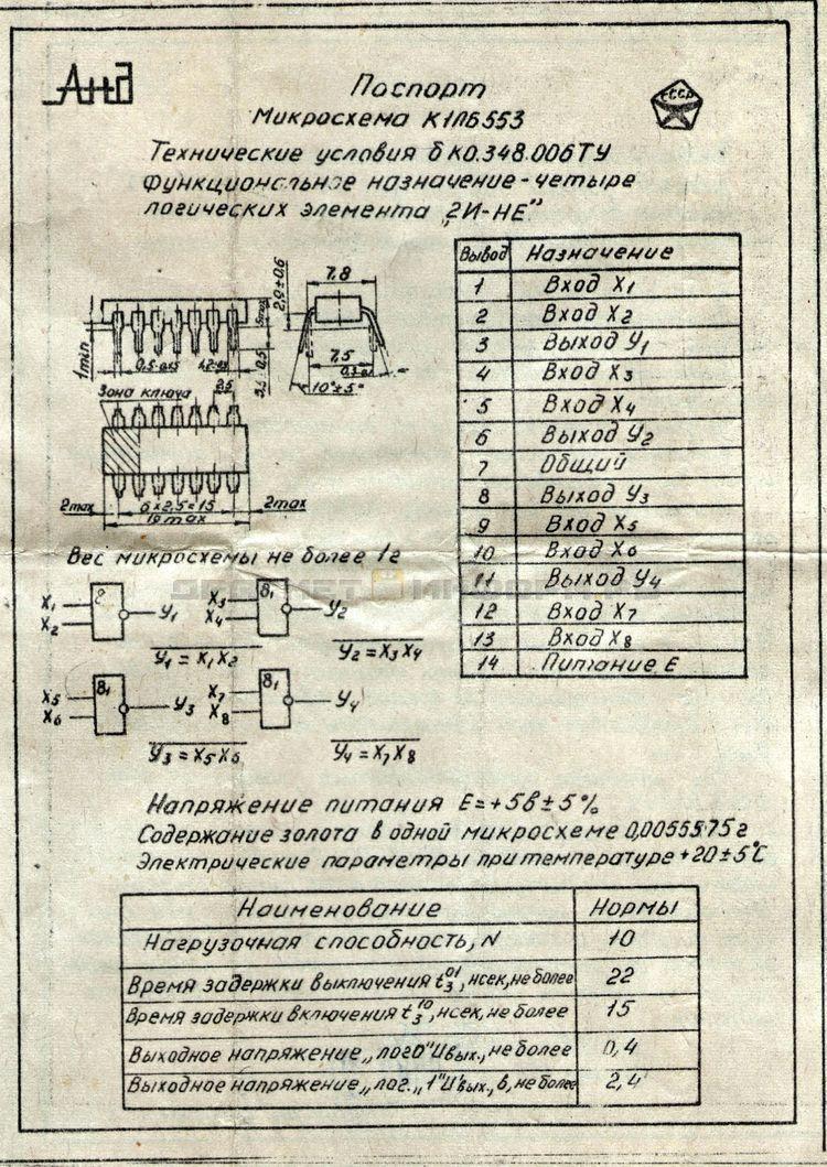 Формуляр К1ПБ553