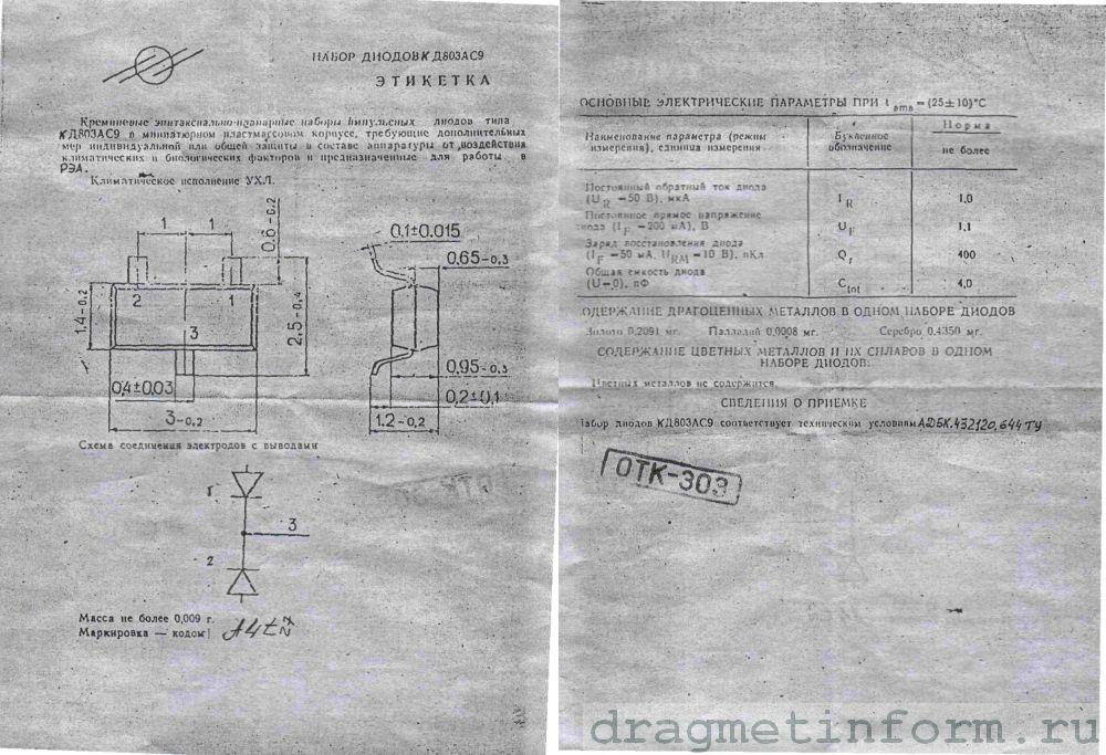 Формуляр КД803АС9