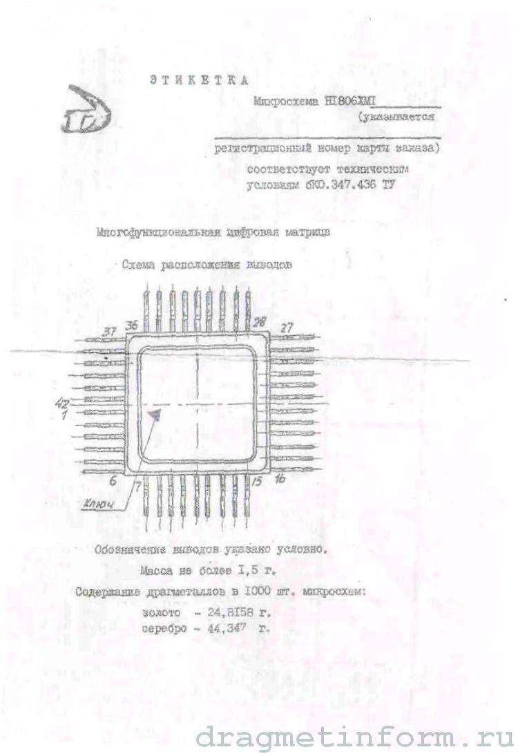 Формуляр Н1806ХМ1
