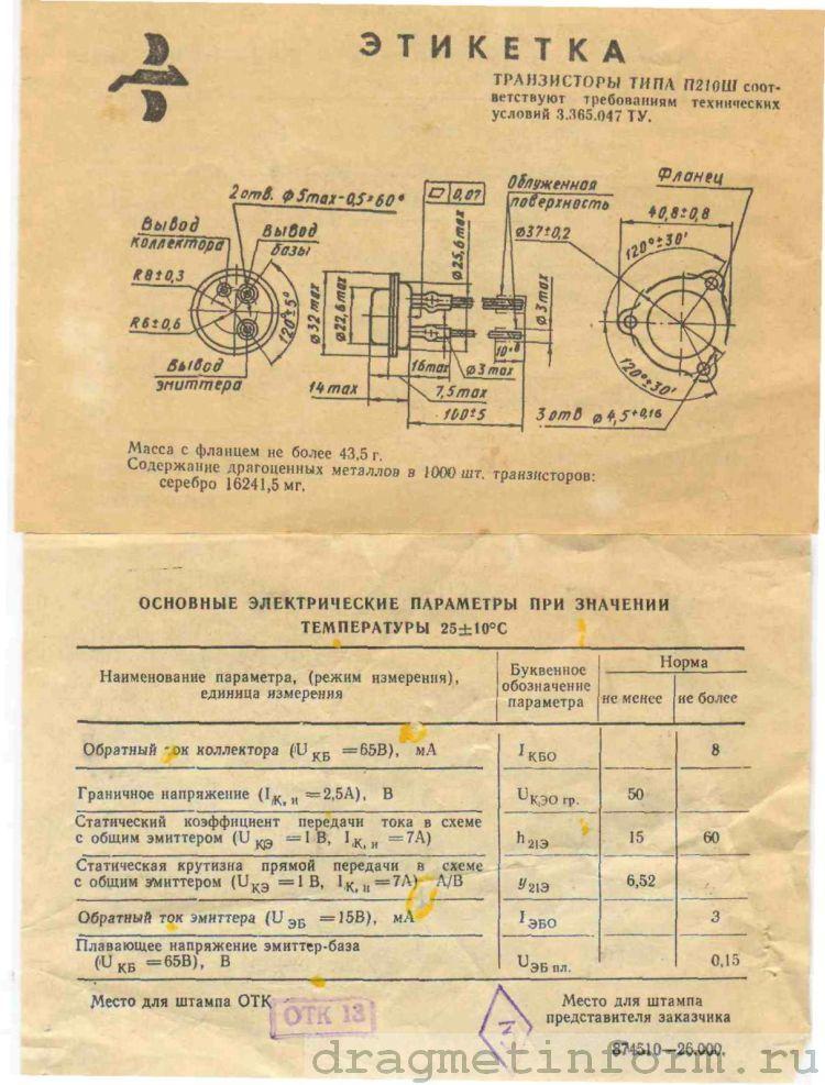 Формуляр П210Ш