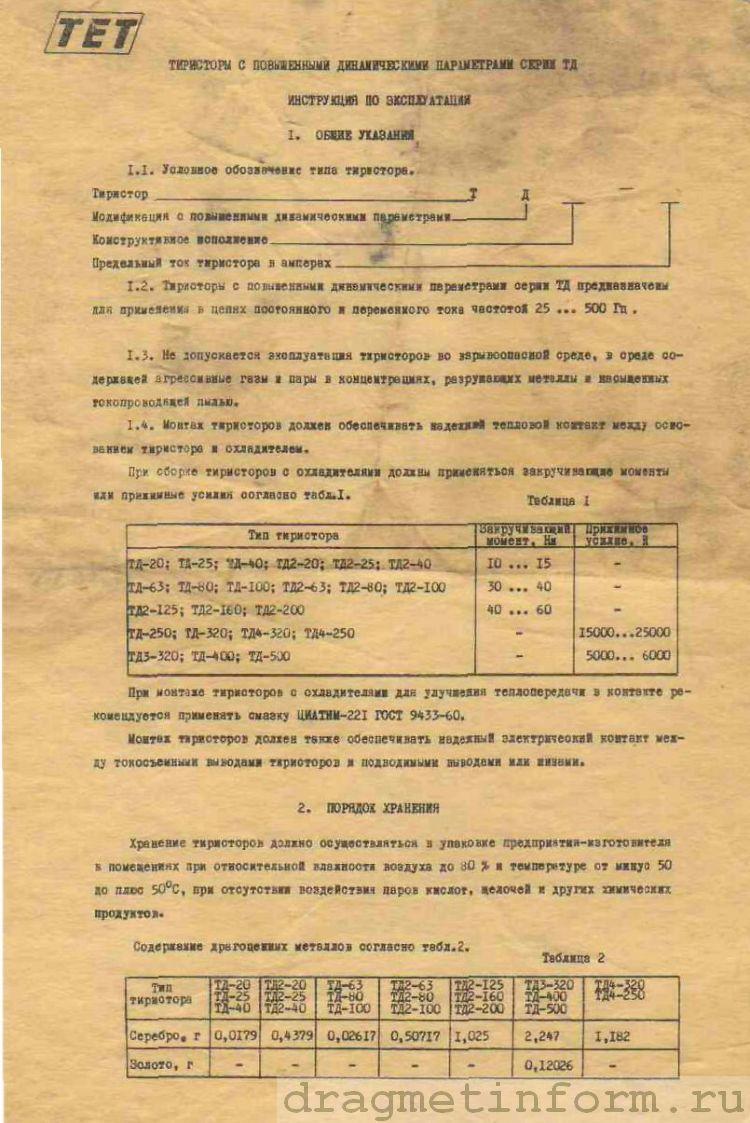 Формуляр ТД2-63
