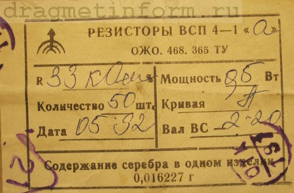 Формуляр ВСП4-1