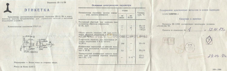 Формуляр 2В112 Б9
