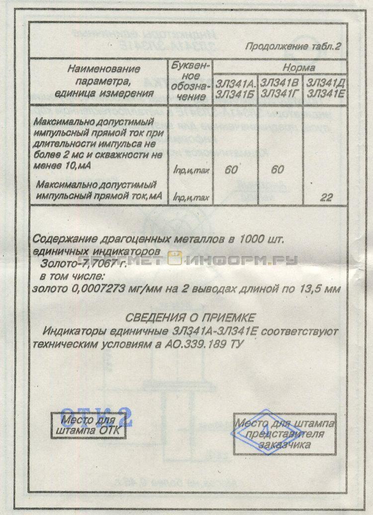 Формуляр 3Л341А